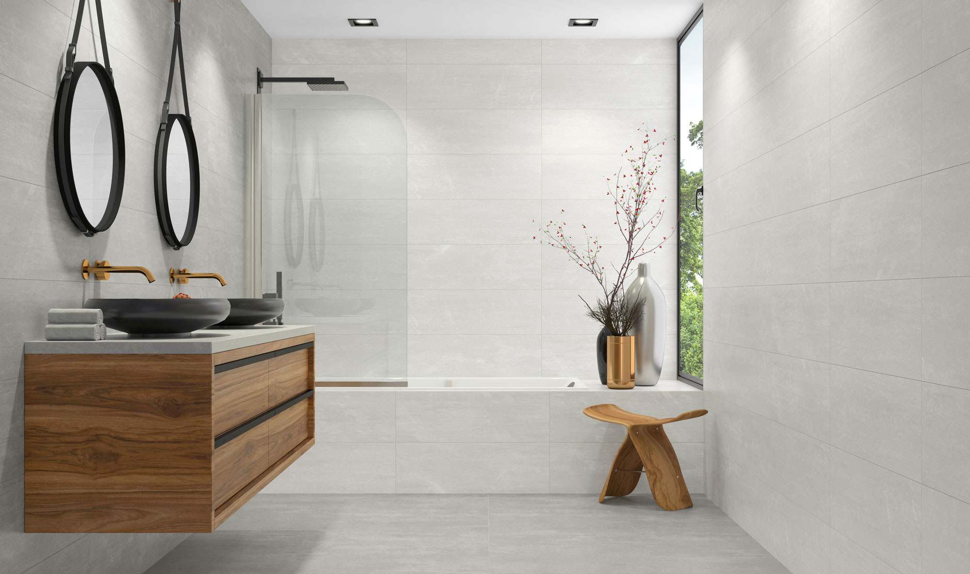 AMBTE LUNEVILLE GRAY CASSIS PEARL CABEC.BAÑO